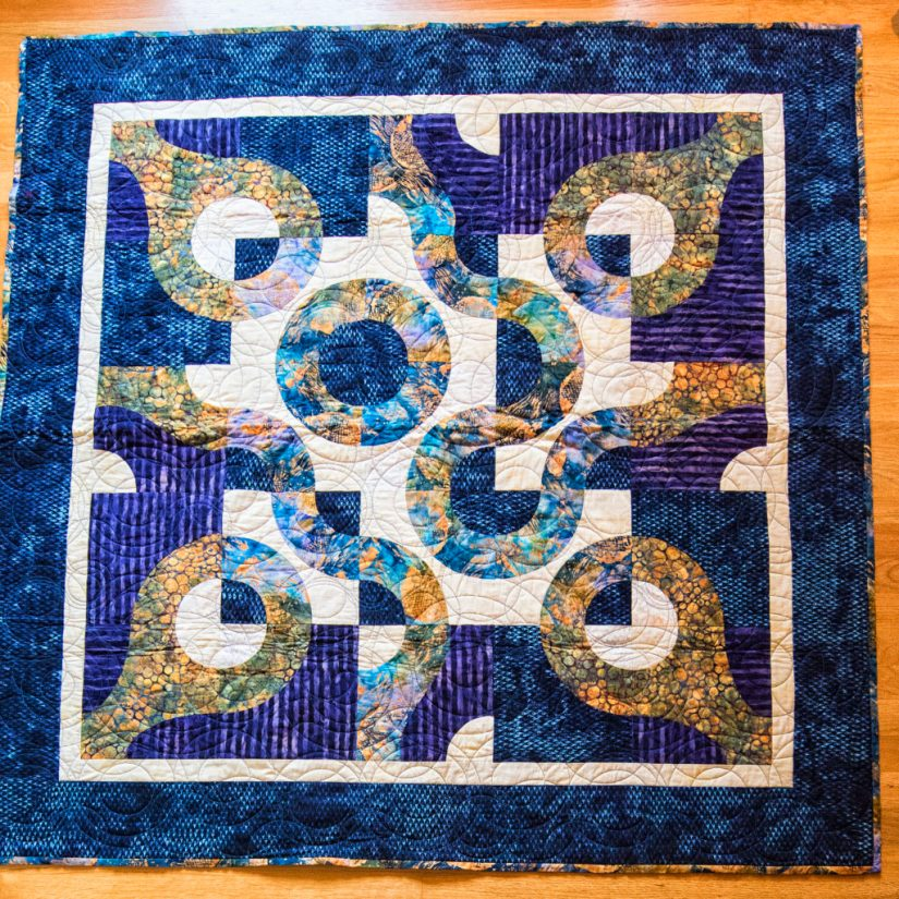 Fish-quilt-with-raindrops