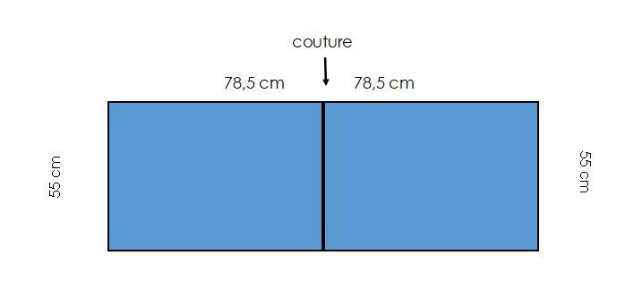 Backing-table-runner-chemin-de-table 142x40