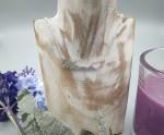 Colgante plata MAMA corazon Swarovski