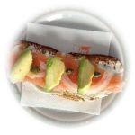 Papa Tosta de salmón de La Terraza - Sada