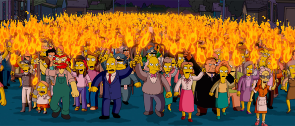 Cartoons_Simpsons_Angry mob