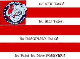 Tea Party taxes flag