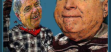 John McCain and Lindsey Graham as Howdy Doody and Buffalo Bob