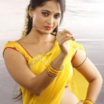 Anushka Shetty Saari Navel Cleavage
