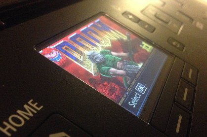 hacking printer and playting doom