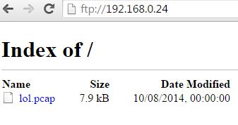 pcap file on FTP server