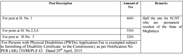 meghalaya-psc-recruitment-application-fees
