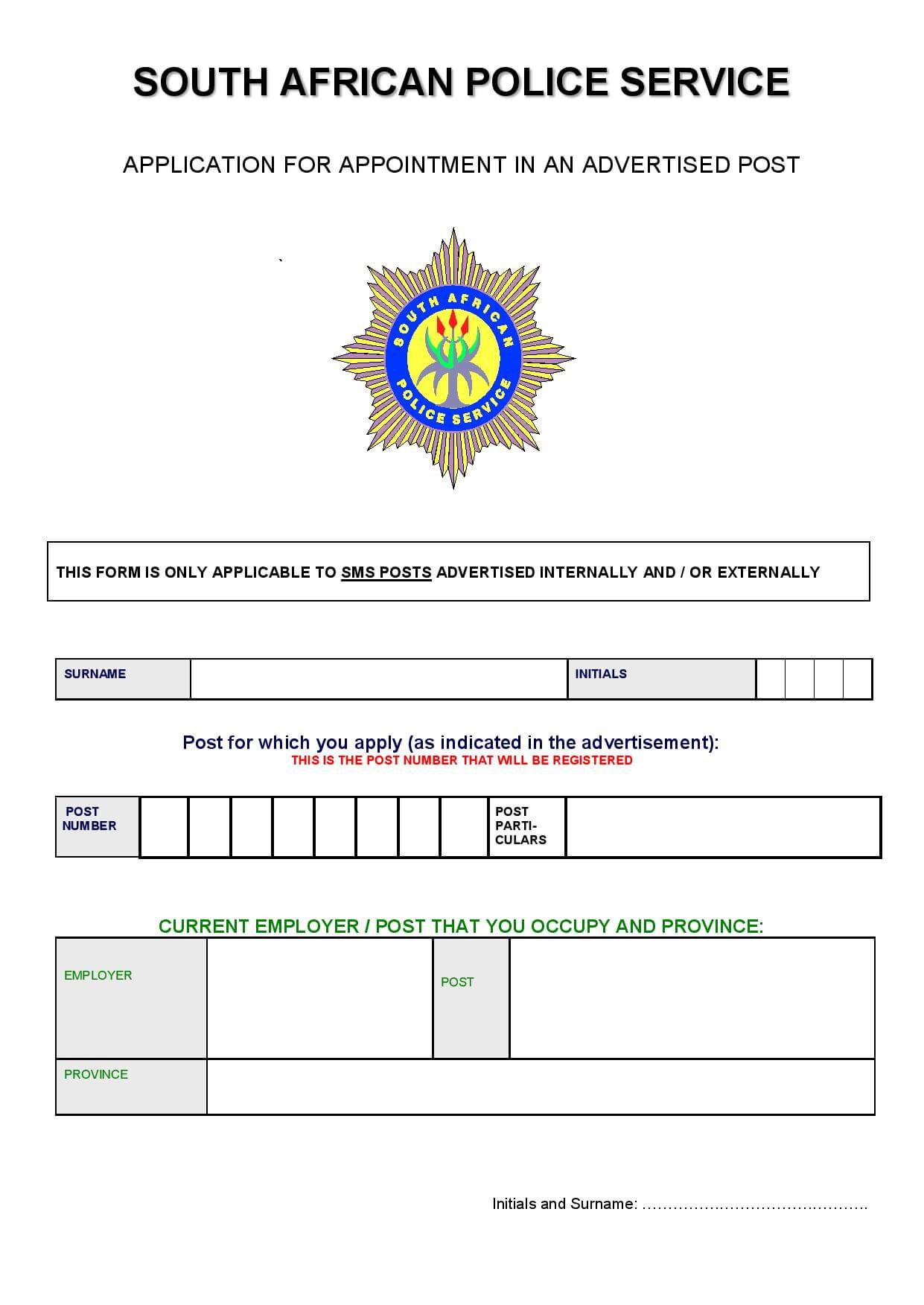 SAPS-Application-Form Job Application Forms To Fill Out on job application forms to save, job application online fill out, job application clip art, cold stone job application print out, blank job application form print out, job application templates, sample job application fill out,