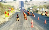 South Africa road workers