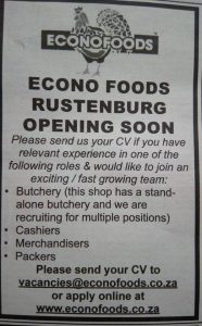 Econo Foods Is Looking for Workers 1