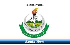 Jobs in Medical Teaching Institution Ayub Teaching Hospital Abbottabad 2020 Apply Now