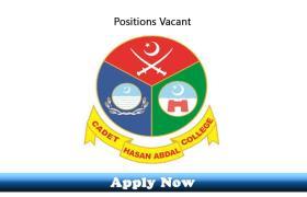 Jobs in Cadet College Hassanabdal 2019 Apply Now