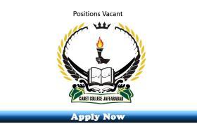 Jobs in Cadet College Jaffarabad 2019 Apply Now