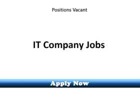 Jobs in a Leading IT Company 2020 Apply Now