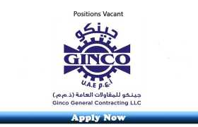 Jobs in Ginco General Trading LLC UAE 2020 Apply Now