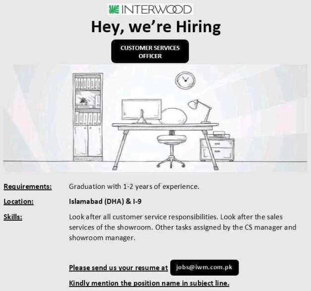 Jobs in Interwood Mobel (Pvt) Ltd 2020 Apply Now
