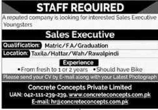 Sales and Marketing Jobs at Concrete Concepts 2020