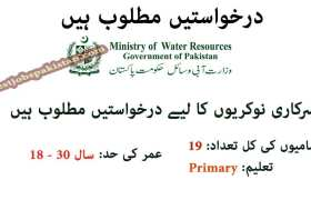 Jobs in the Ministry of Water Resources Islamabad 2020