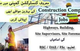 Jobs in a Leading Construction Company 2020