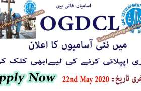 Jobs in Oil & Gas Development Company Limited OGDCL 2020