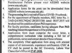 Abdus Salam School of Mathematical Sciences GC University Lahore 2020