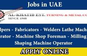 Jobs in Al Khatib Est UAE 2020