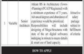 Architects Jobs in Pakistan 2020
