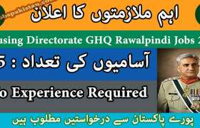 Housing Directorate GHQ Rawalpindi Jobs 2020