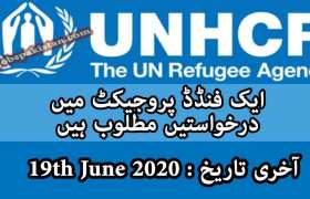 Jobs in UNHCR Funded Project 2020
