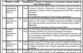 Directorate of Science and Technology Government of Khyber Pakhtunkhwa Jobs 2020