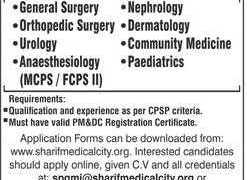 Sharif Post Graduate Medical Institution (SPGMI) Sharif Medical City Hospital (SMCH) Jobs 2020