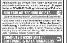 COVID-19 Testing Laboratory Jobs 2020