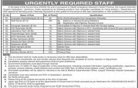 Liaquat University Hospital Hyderabad / Jamshoro Jobs 2020