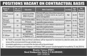 Naval Headquarter Sector Islamabad Jobs 2020