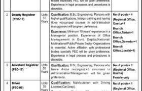 Pakistan Engineering Council PEC Balochistan Jobs 2020