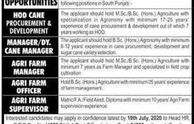 Renowned Industrial Group South Punjab Jobs 2020