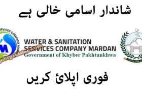Water and Sanitation Services Company Mardan Jobs 2020