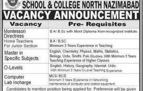 Quaid-E-Azam Rangers School & College North Nazimabad Karachi Jobs 2020