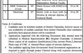 DHQ Hospital Charsadda Jobs 2020