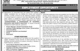 Liaquat University of Medical Health Sciences Jamshoro Jobs 2020