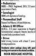 Noor Medicare Hospital Lahore Jobs 2020