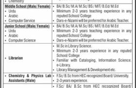 Garrison Academies Gujranwala Jobs 2020
