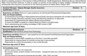 Qarshi Industries Limited Jobs 2020