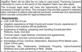 Lawyers Urgently Required 2020