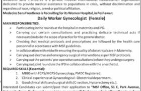 Medecins Sans Frontieres Jobs 2020