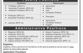Mir Chakar Khan Rind University Jobs 2020