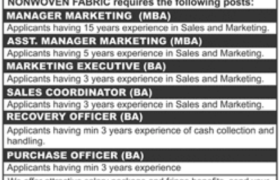 Textile Group Lahore Jobs 2021