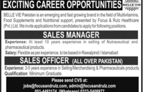 BELLE VIE Pakistan Jobs 2021
