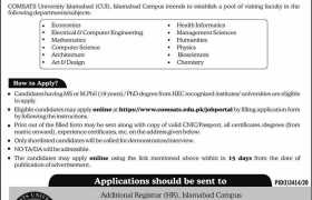 COMSATS University Islamabad Jobs 2021
