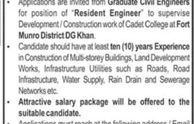 Cadet College Fort Munro Jobs 2021